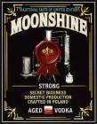 Nalepka na butelkę Moonshine Strong Aged Vodka (nr 363)